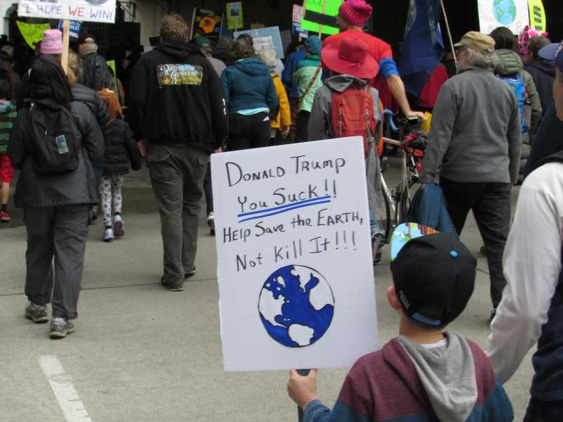 Climate March Kid